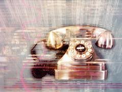 Glam-o-phone (lensletter) Tags: shockofthenew telephone phone rotaryphone dial ipad superimposex decim8 filterloop glitché stackables snapseed lorystripes leonardo lensletter