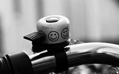 just a smile (ELECTROLITE photography) Tags: justasmile nureinlächeln smile lächeln justeunsourire sourire bell klingel fahrrad lenker cloche vélo blackandwhite blackwhite bw black white sw schwarzweiss schwarz weiss monochrome einfarbig noiretblanc noirblanc noir blanc electrolitephotography electrolite
