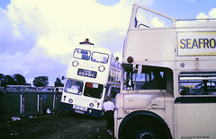 Slide 122-68 (Steve Guess) Tags: open top topper topless epsom downs racecourse surrey england gb uk bus porstmouth eastbourne leyland atlantean titan