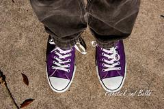 My Converse (Photo=1000 Words) Tags: converse levisjeans sneakers tennisshoes streetscene streetview walking sunlight feet footwear