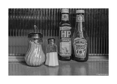 Condiments of the East End © (wpnewington) Tags: cafe condiments sauce eastend london monochrome bw sugar