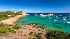 Cala Pregonda (Nicola Pezzoli) Tags: menorca baleares baleari island nature spain sea minorca isola cala pregonda beach blue water sky red rock sand