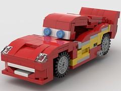 Lightning McQueen V2  Driver Side Front (Daniel Ringuette) Tags: lightning mcqueen cars lego legoformer transformer pixar