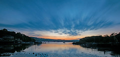 92 seconds of bliss (Hoovering_crompton) Tags: galmptoncreek riverdart longexposure nikond3300 sunset clouds torbay devon sky moody pastelcolour water southhams