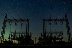 More Power (ReppiX) Tags: nachtaufnahme nightshoot hochspannung nacht sterne stars power night rwe energie umspannwerk nachtfotografie