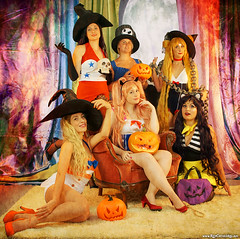 Happy Halloween from the Ladies of the Night (Red Cathedral [FB theRealRedCathedral ]) Tags: redcathedral aztektv sony alpha slt mkii sonyalpha a77ii a77 dslr sonyslta77ii translucentmirrortechnology wanderlust digitalnomad contemporaryart streetart alittlebitofcommonsenseisagoodthing travellingphotographer cosplay redcathedralart halloween witches sailormoon pinup witch spooktober creepy horror anime pumps halloweenpinup cosplaygirls animegirls cosplaypinup fearnoevil thegoodwitch 月野 うさぎ tsukino usagi serena セーラー戦士 sērāsenshi