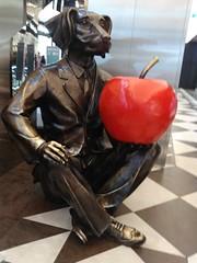 Gillie and Marc2 (trex37au) Tags: gillie marc dogman sculpture apple dog collins lane melbourne victoria australia