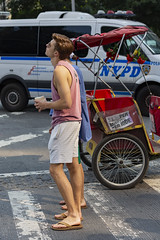 094A3406 v2 (Wheels Down) Tags: hottie male handsome nyc candid streetphotography shorts tanktop feet legs flipflops pedicab