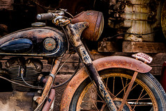 Rusty, but still running (Matthias-Hillen) Tags: oldtimer rostig rusty abandoned wrack matthias hillen matthiashillen awo 425 tourer motorrad motorcycle motor bike cycle harzer schmiede harz zilly osterwieck museum technikmuseum rot schwarz red black rost rust