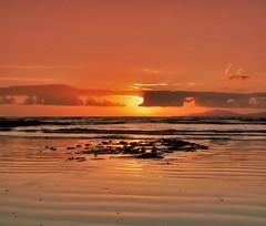 Irish beach sunset. (carolinejohnston2) Tags: tide seaweed ireland atlantic donegal rossnowlagh shore seashore redsky wildatlanticway