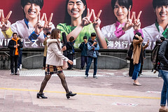 Brand Victim (burnt dirt) Tags: asian japan tokyo shibuya station streetphotography documentary candid portrait fujifilm xt1 bw blackandwhite laugh smile cute sexy latina young girl woman japanese korean thai dress skirt shorts jeans jacket leather pants boots heels stilettos bra stockings tights yogapants leggings couple lovers friends longhair shorthair ponytail cellphone glasses sunglasses blonde brunette tattoo redhead model city town downtown pretty beautiful selfie fashion pregnant sweater people person costume cosplay boobs