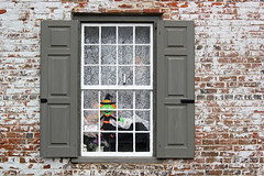 Peek-a-BOO (tmattioni) Tags: mthollynj millstreetshoppes window halloween witch bricks hww