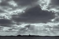 Rays (Stueyman) Tags: sony a7 a7ii za zeiss 55mm wa australia rockingham perth sky clouds rays westernaustralia ocean indianocean island penguinisland blackandwhite bw noiretblanc au