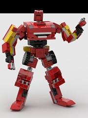 Lightning McQueen V2 Robot Front (Daniel Ringuette) Tags: lightning mcqueen lego transformer cars legoformer pixar