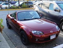 2007 Mazda Miata (D70) Tags: parkgateshoppingcenter northvancouver britishcolumbia canada mazda miata roadster topless snow tires nb