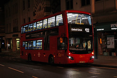Route N22, Go Ahead London, MHV97, LF67EWW (Jack Marian) Tags: routen22 goaheadlondon mhv97 lf67eww volvo b5lh hybrid mcv evoseti volvob5lh mcvevoseti oxfordcircus fulwell richmond richmondstation buses bus london