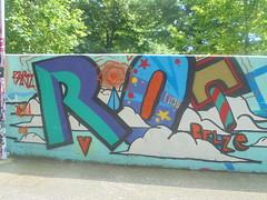 456 (en-ri) Tags: belze bortz arancione blu verde acqua 018 2018 parco dora torino wall muro graffiti writing