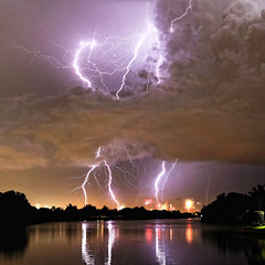 Florida_4_hd (eebling) Tags: lightning fireworks florida night color clouds sky storm water lake reflection usa america celebration tradition