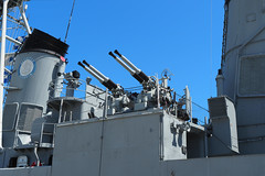 USS Cassin Young 3 (PDX Bailey) Tags: uss cassin young dd793 destroyer fletcher class wwii world war two us navy naval maritime ship gray grey squadron history american america blue flag sky gun artillery sailor