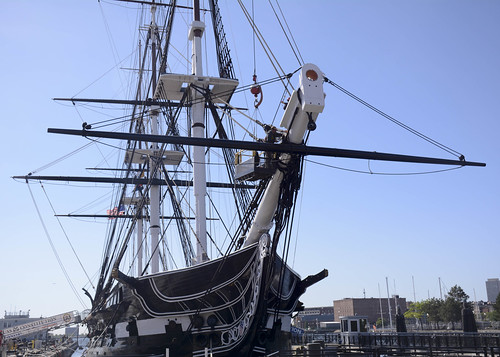 Attaching a Line to the USS Constitution
