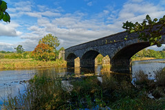 West Bradford Bridge Autumn (scottprice16) Tags: england lancashire westbradford bridge westbradfordbridge stone water river riverribble ribblevalley trees sky cloud autumn colour leaves september outdoors landscape view ribbleway sony sonya6000 zeiss1670mmf4