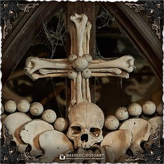 """""""That is not dead which can eternal lie, And with strange aeons even death may die."""" - H.P. Lovecraft . 💀💀💀 In celebration of this festive time of year for all things dark and creepy, as well as Day of the Dead, Dziady, and Halloween, we (Sedlec Ossuary Project) Tags: sedlecossuaryproject sedlec ossuary project sedlecossuary kostnice kutnahora kutna hora prague czechrepublic czech republic czechia churchofbones church bones skeleton skulls humanbones human mementomori memento mori creepy travel macabre death dark historical architecture historicpreservation historic preservation landmark explore unusual mechanicalwhispers mechanical whispers instagram ifttt"""