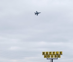 Wings over Waffle House F-16 Over Waffle House (Neal3K) Tags: atlantaairshow hamptonga georgia atlantamotorspeedway wafflehouse f16 jet airplane