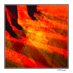 four feet and their long shadows (harrypwt) Tags: harrypwt abuja nigeria city samsungs7 s7 composition interesting africa afrika borders framed shadows road street feet red abstract 11 square