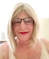 Happy Donna - 6 (donnacd) Tags: sissy tgirl tgurl slut dressing crossdress crossdresser cd travesti transgenre xdresser crossdressing feminization tranny tv ts feminized jumpsuit domina blouse satin lingerie touchy feely he she look 易装癖 シー
