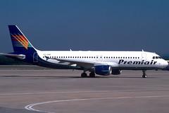 Premiair A320-212 OY-CNC GRO 14/08/1997 (jordi757) Tags: airplanes avions nikon f90x kodachrome kodachrome64 gro lege girona costabrava airbus a320 a320200 premiair oycnc