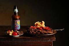 Voodoo Ribs and Pork Rind Salad (Studio d'Xavier) Tags: voodooribsandporkrindsalad ribs bbq stilllife strobist