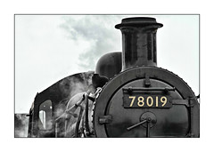 Black and white in colour (david.hayes77) Tags: gcr greatcentralrailway 2013 standardclass 2mt 78019 rariddles 260 steam galaweekend steamlocomotive detail boiler kettle