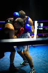 38159 - Break (Diego Rosato) Tags: boxe boxing pugilato boxelatina ring match incontro rawtherapee nikon d700 2470mm tamron pugno punch face off break
