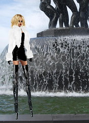 Very High PVC Boots (SoakinJo) Tags: highheels stilettos pvc thighboots balletheels platformballetheels