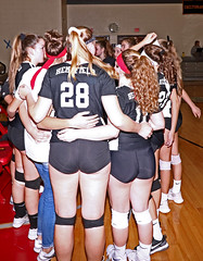 IMG_3183 (SJH Foto) Tags: girls high school volleyball bishop shanahan hempfield state pool play championships pregame huddle cheer candid canon 1018 f4556 stm superwide lens