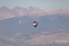 September 23, 2018 - A perfect balloon in front of the Rocky Mountains. (Tony's Takes)