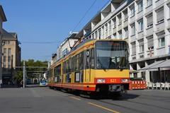 Duewag GT8-100C/2S #827 (LukaszL99) Tags: karlsruhe tram strasenbahn tramtrain dwusystemowy tramwaj deutschland germany niemcy zweisystem stadtbahn duewag gt8100c2s