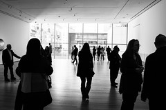 Gallery (marktmcn) Tags: space room window people crowd silhouettes light werner elaine dannheisser gallery moma museum modern art new york nyc blackandwhite monochrome d610