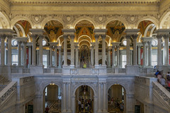Library of Congress Great Hall (johngoucher) Tags: approved libraryofcongress sonyimages sonyalpha washingtondc architecture architecturalphotography iconicbuilding travel arches columns ceiling wideangle rokinon12mm rokinon greathall