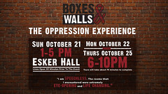 BoxesWalls 2018_UCDigitalSignage1 (UWW University Housing) Tags: digital signage boxesandwalls boxes walls event social esker hall october uww whitewater wi