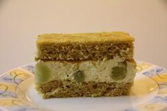 Zöld teás piskóta, zöld teás szőlős mascarpone krémmal / Sponge cake with green tea and grapes (eszsara) Tags: greentea grape szőlő zöldtea piskóta mascarpone süti sütemény cake bake sponge étel food spongecake magyarország hungary