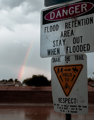 Street - Monsoon 2018 Rainbow (Cameron McGhie) Tags: rainbow rain arizona mcghie mcghiephotography new 18 nikon nikond5300 light lightroom hdr art artsy fun arty maniacmcghie 2018 cameroncmghie edited streetphotography portrait cameronmcghie cameron 35mm18 35mm rainy rainvibes canal rainbowsunlight danger