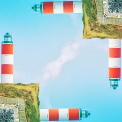 Kaleidoscopic - Berck (Max Brocel) Tags: lighthouse phare berck square digital app kaleidoscopic kaleidoscope apple iphone