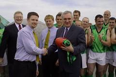 Team Manager Damien Cassidy Makes Presentation To Taoiseach. Portmarnock 2002 (Australian Embassy Ireland) Tags: afl football aussie rules