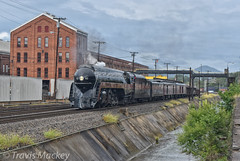 NS 069 at the East End Shops (Travis Mackey Photography) Tags: ns 069 nw 611 roanoke va blue ridge district train railroad locomotive building sky power poles grass bridge