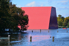 London Mastaba / V (Images George Rex) Tags: 1019b6292b844e52ab63625a52c4e7d3 london westminster uk thelondonmastaba christo christoandjeanneclaude sculpture lake publicart theserpentine england photobygeorgerex unitedkingdom britain imagesgeorgerex mastaba christojavacheff hydepark 2018 environmentalartwork conceptualart
