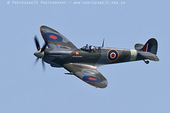 8739 City of Exeter Spitfire (photozone72) Tags: eastbourne airshows aircraft airshow aviation canon canon7dmk2 canon100400f4556lii 7dmk2 spitfire warbirds wwii cityofexeter