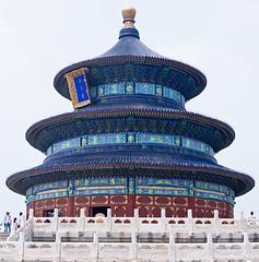 Hall of Prayer for Good Harvests, Temple of Heaven, Beijing, China (Miche & Jon Rousell) Tags: china beijing templeofheaven temple beams blue green hallofprayerforgoodharvests