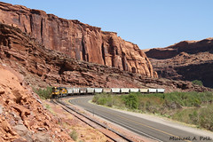 UP 8388 @ Moab, UT (Michael Polk) Tags: union pacific emd sd70ace potash local moab utah freight train intrepid