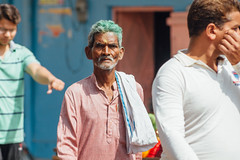 Walking Men, Uttar Pradesh India (AdamCohn) Tags: adam cohn uttar pradesh india mathura vrindavan gulal holi men street wwwadamcohncom adamcohn uttarpradesh